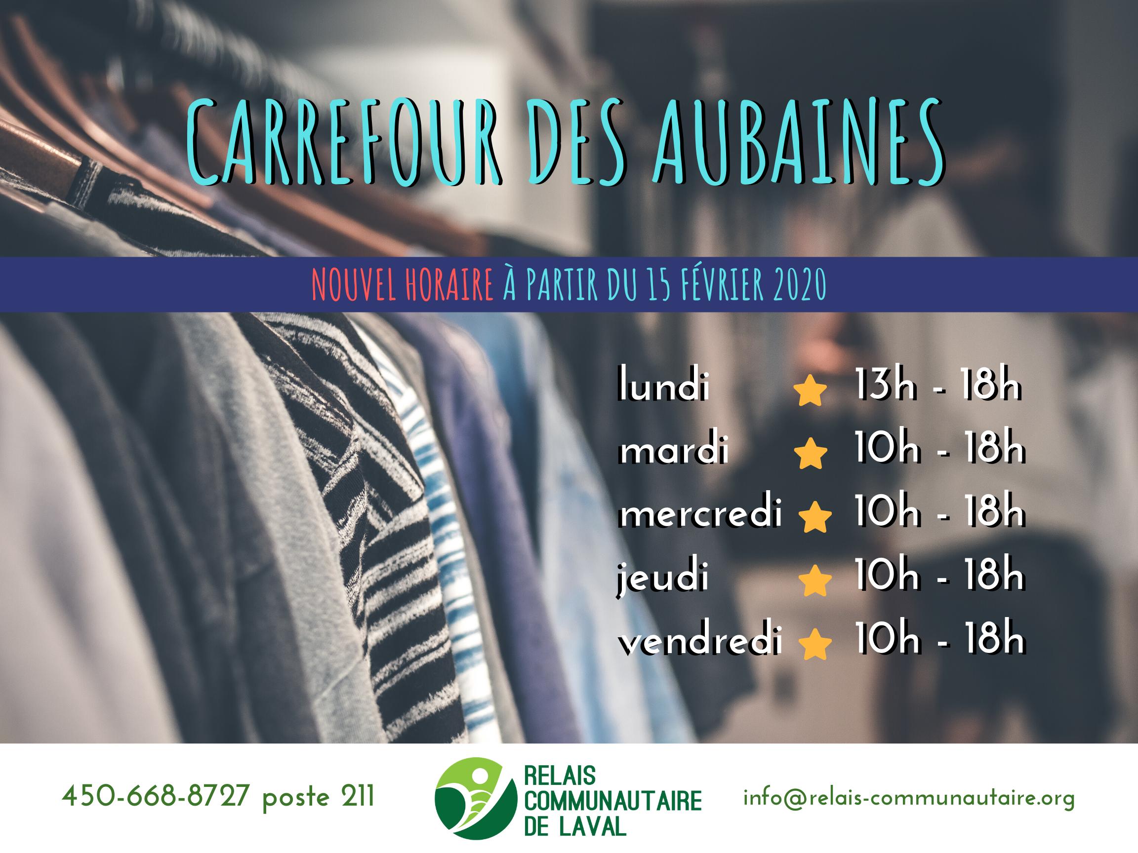 Carrefour Des Aubaines Relais Communautaire De Laval