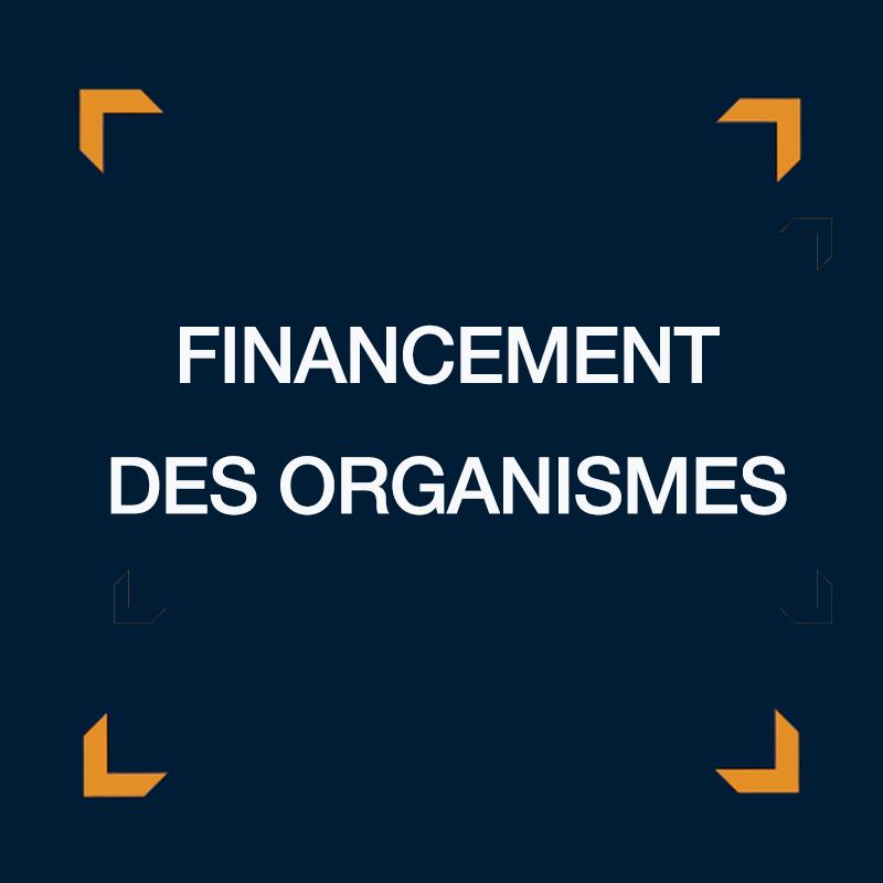 Financement des organismes